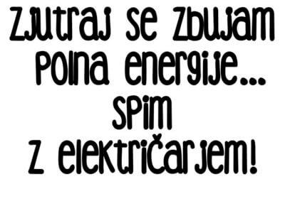 zabavna majica spim z električarjem