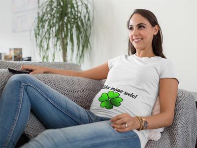 letos imamo srečo nosečniška majica