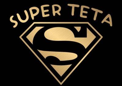 Smešna-majica-super-teta-zlata-crna