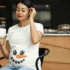 Zabavna-majica-za-nosečnice-snežakinja