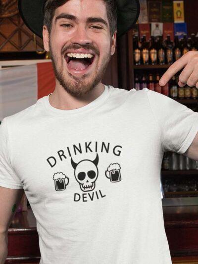 drinking devil pivska majica