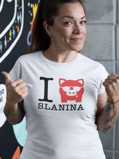 smesna zenska majica I love slanina