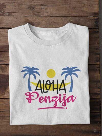 zabavna majica za penzijo aloha penzija