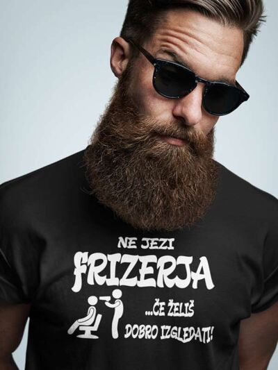 zabavna majica ne jezi frizerja