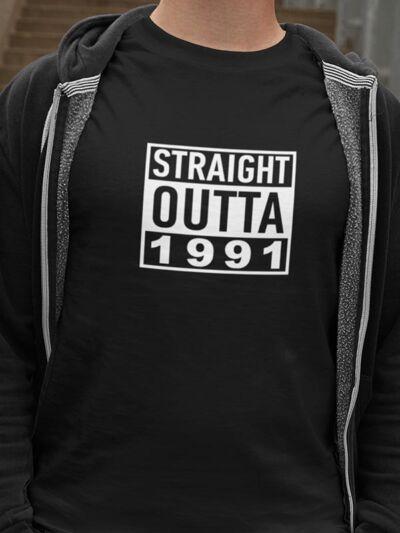 zabavna majica straight outta letnica po želji
