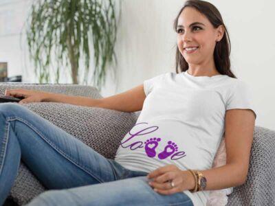 Smešna-nosečniška-majica-Love