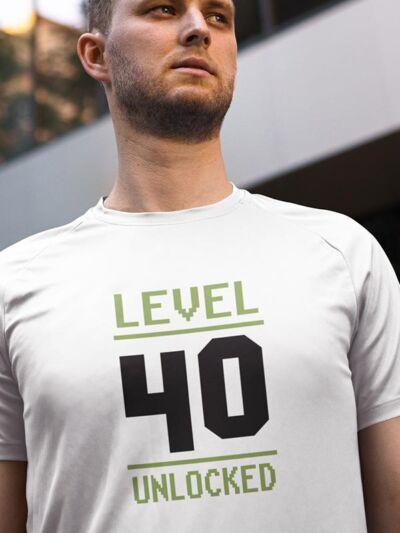majica 40 rojstni dan level unlocked
