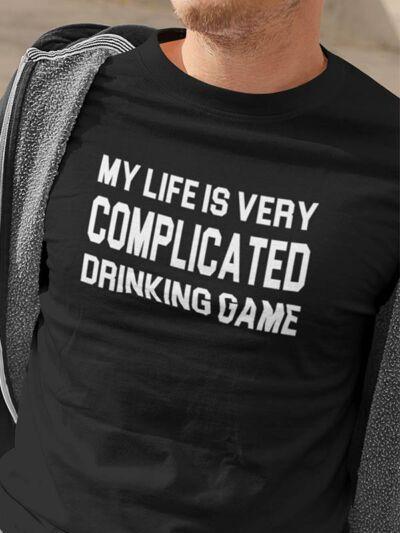 smešna majica complicated drinking game