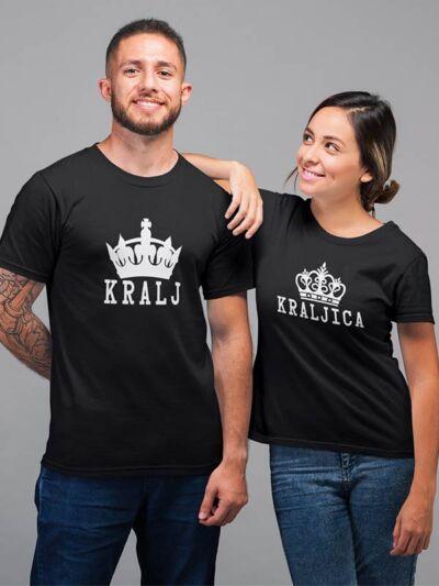 majica za pare kralj kraljica