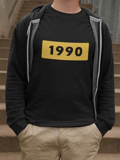 1990 moška majica za 30 rojstni dan