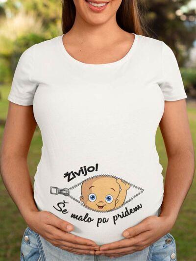 smesna majica za nosecnice zivijo se malo pa pridem