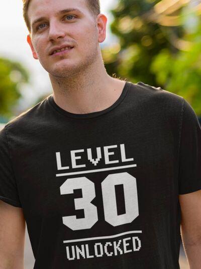 level 30 unlocked majica za rojstni dan