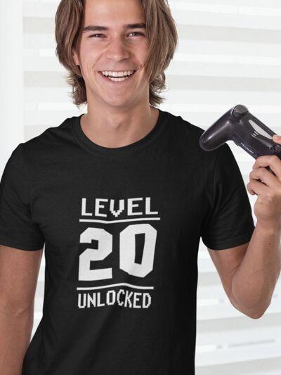 majica za 20 rojstni dan level unlocked