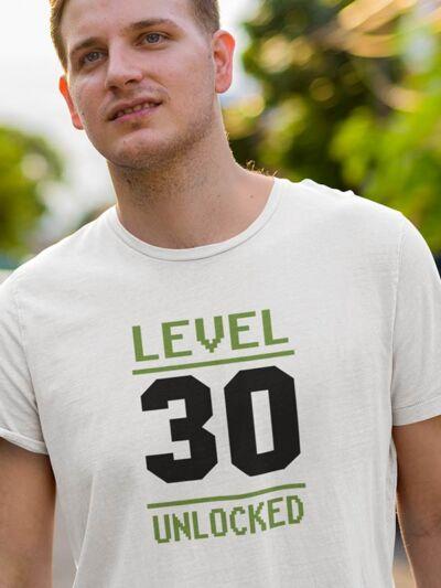 majica za 30 rojstni dan level unlocked