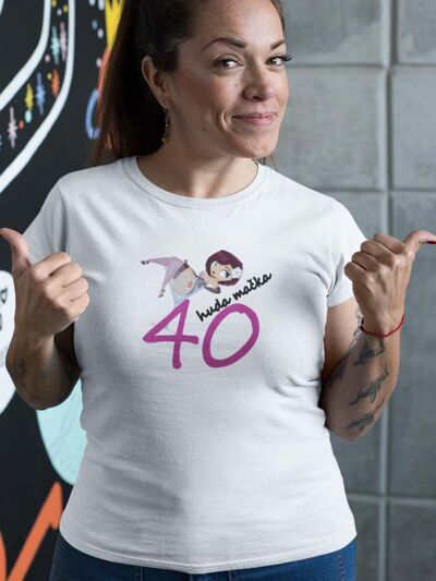 majica za 40 let huda macka